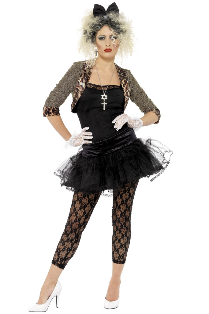 80S WILD CHILD COSTUME, BLACK
