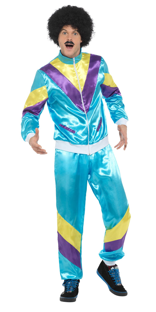 80S HEIGHT OF FASHION SHELL SUIT COSTUME, BLUE