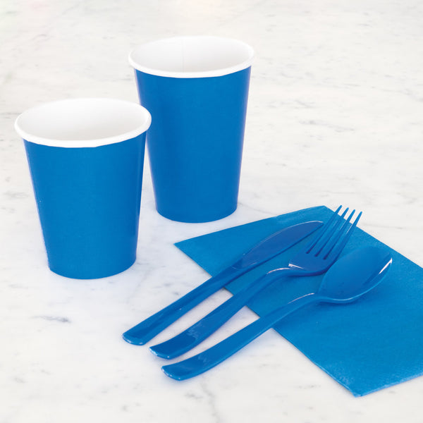 Blue Assorted Plastic Cutlery - Pack Of 18