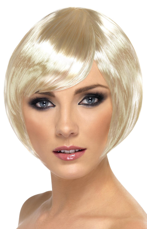Babe Wig, Blonde, Short Bob with Fringe