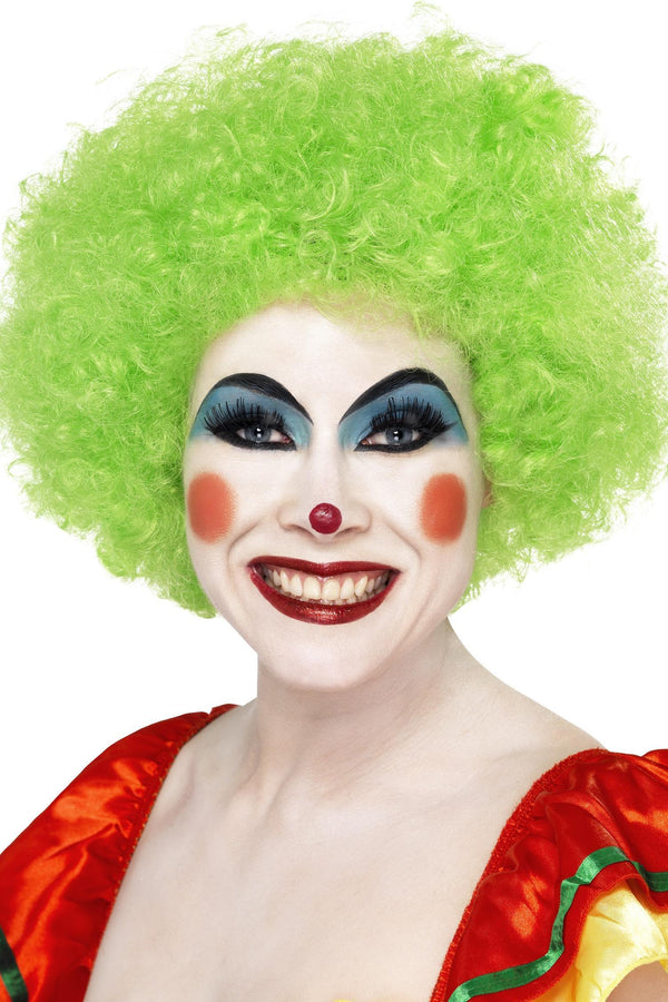 Crazy Clown Wig, Green