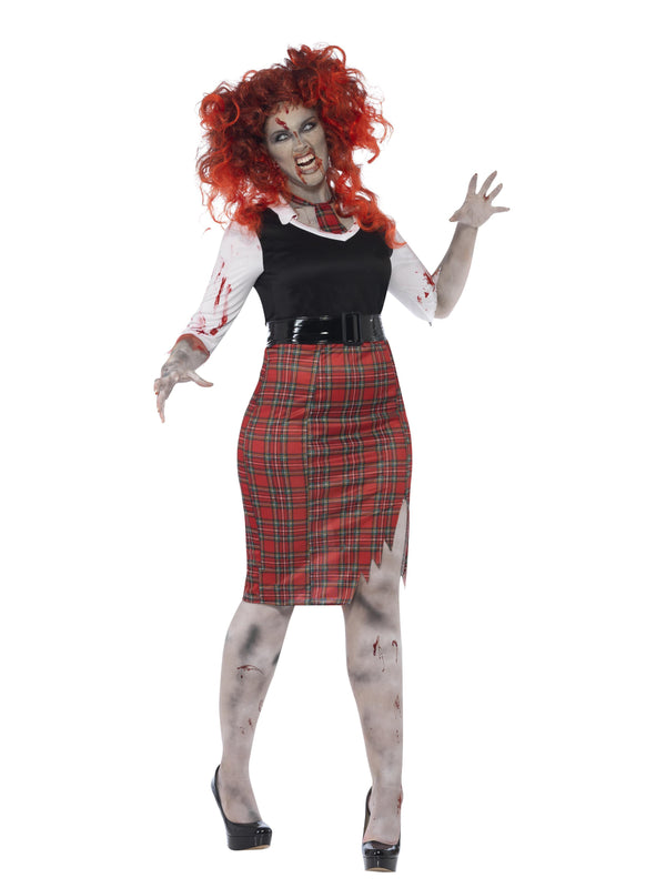 Zombie School Girl Plus Size Adult Women's Costume