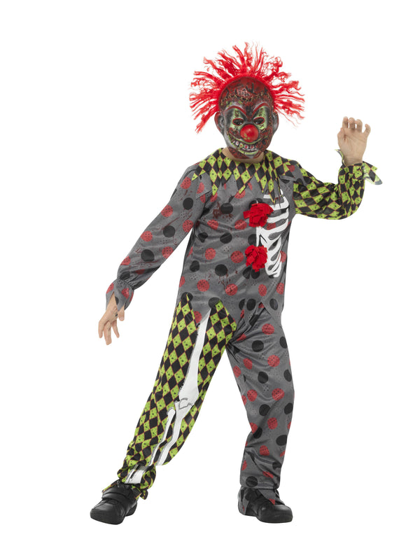 Deluxe Twisted Clown Costume, Multi-Coloured