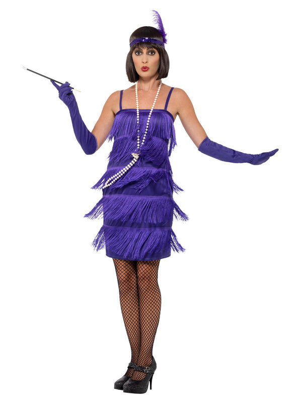 Fringed Flapper Costume, Purple