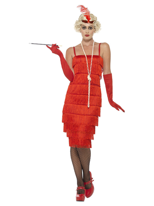 Fringed Flapper Costume, Red