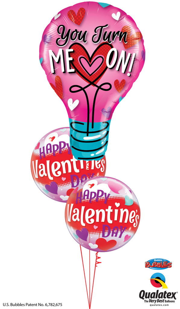 Light Up Your Life Valentine Balloon Bouquet