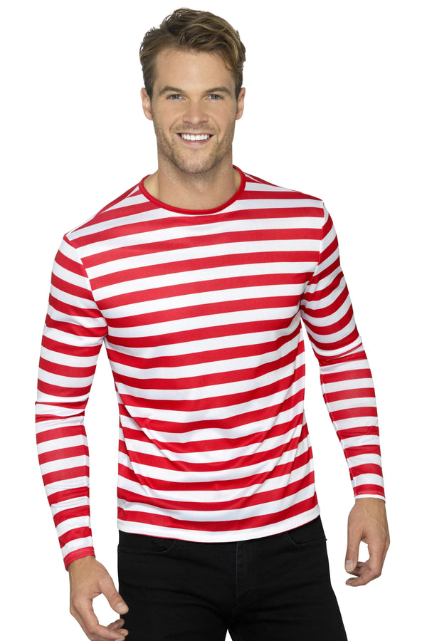 Stripy T-Shirt, Red