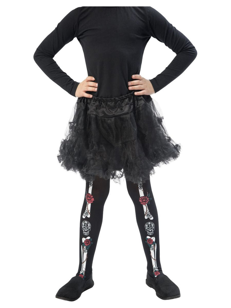 Day of the Dead Tights, Child, Black