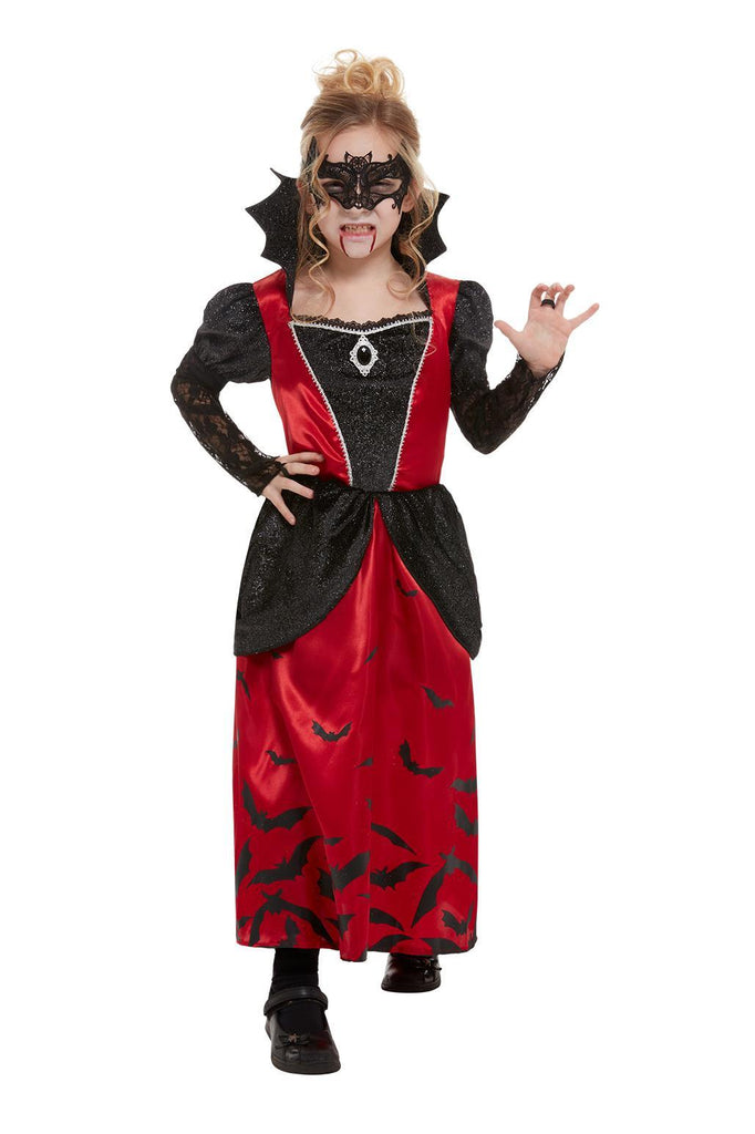 Vampire Costume, Black, with Dress & Eyemask.