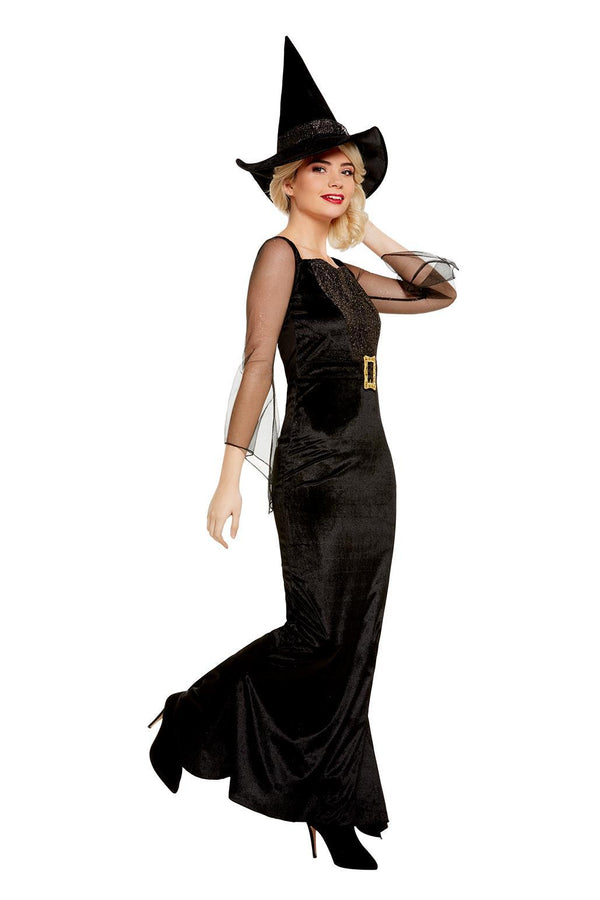 Glam Witch Costume, Black