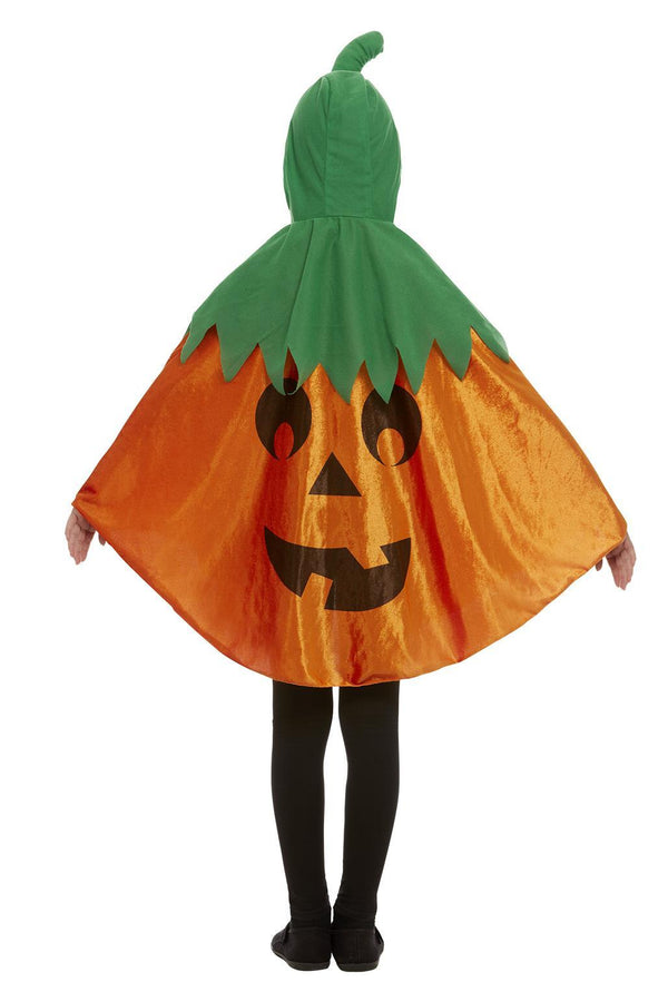 Pumpkin Hooded Cape, Orange