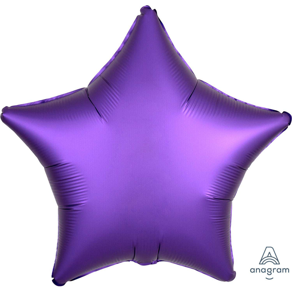 Star Satin Luxe Foil Balloon | Purple Royale | Helium is included.