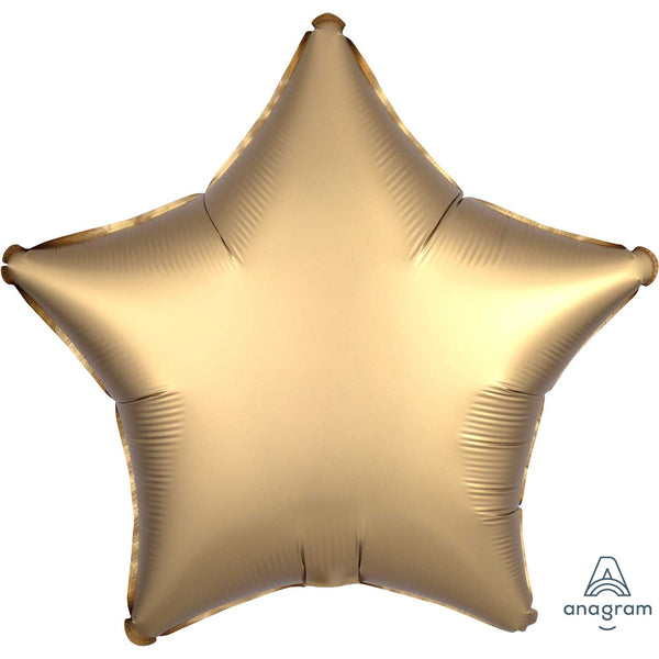 Star Satin Luxe Foil Balloon | Gold | Helium is included.