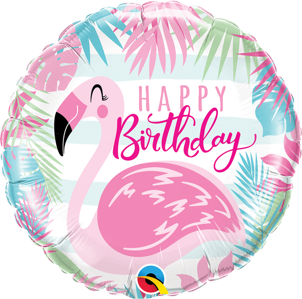 Birthday Pink Flamingo Foil Balloon | Helium Is Included |.