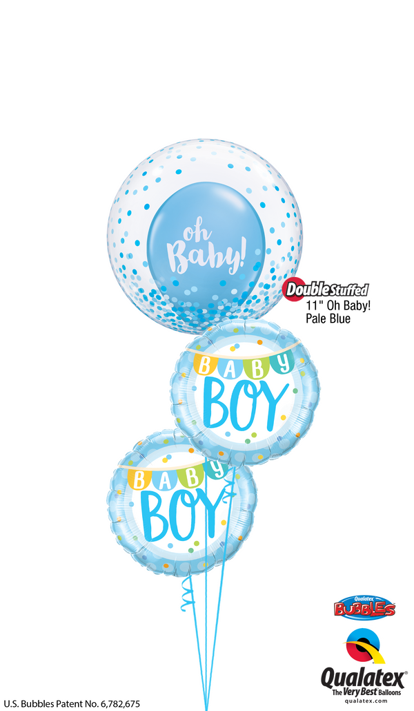 "Blue ""Oh, Baby!"" Boy Bouquet"