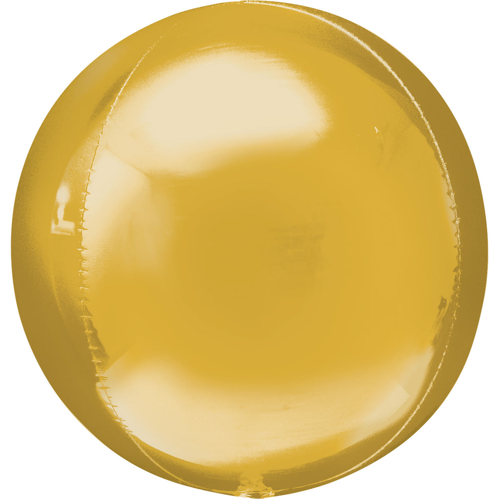 Orbz Foil Balloon  | Gold | Helium is included.
