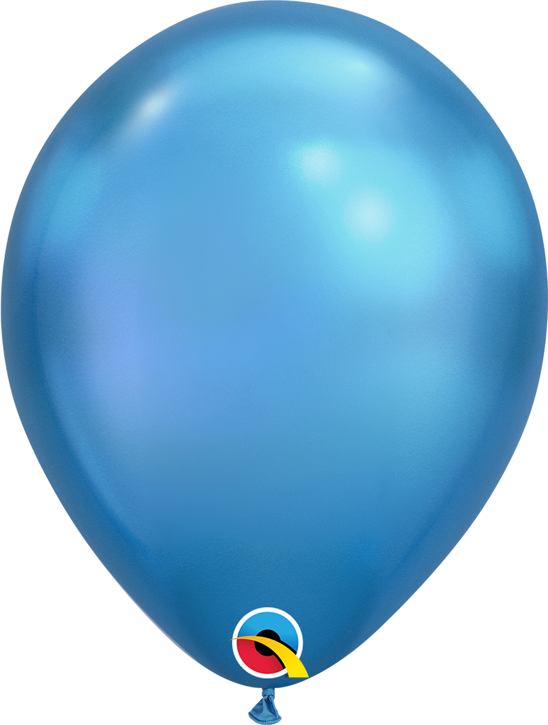 Chrome® Blue Latex Balloons (27cm) - Pack Of 25