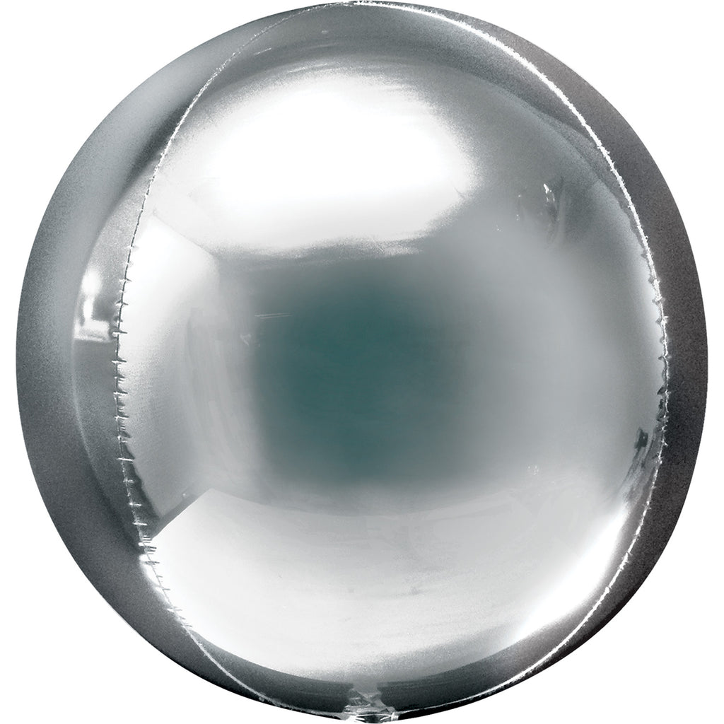 Orbz Foil Balloon  | Silver | Helium is included.