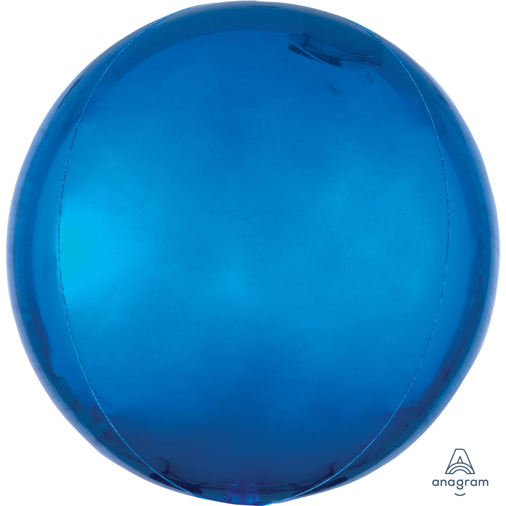 Orbz Foil Balloon  | Blue | Helium is included.