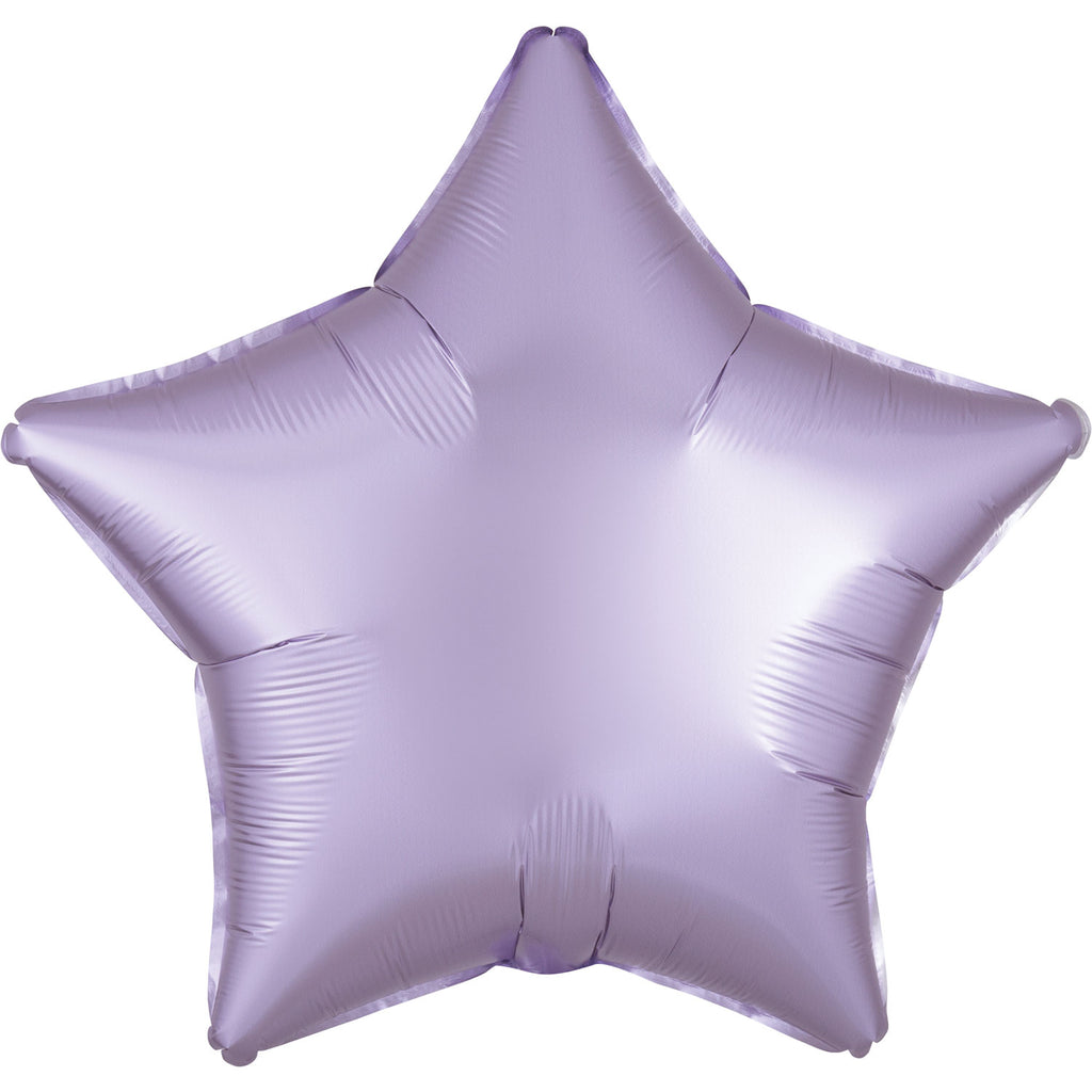 Star Satin Luxe Foil Balloon | Pastel Lilac | Helium is included.