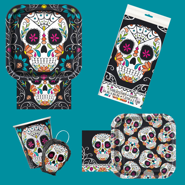 Skull Day of the Dead Square 9