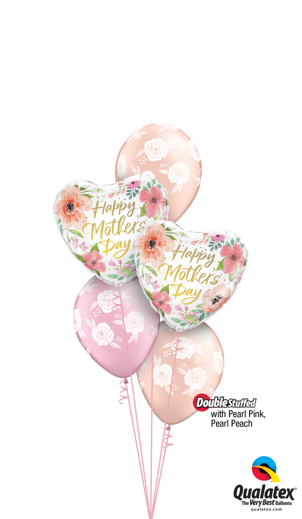 Pearl Pink & Pearl Peach Mother's Day Blossoms Bouquet