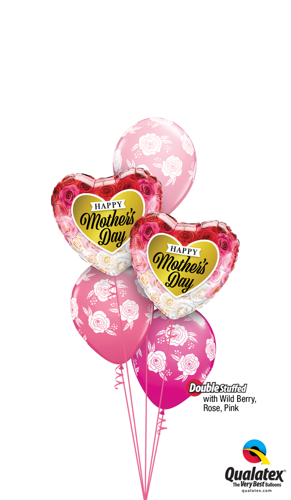 Wild Berry, Rose, & Pink Mother's Day Flowers Balloon Bouquet