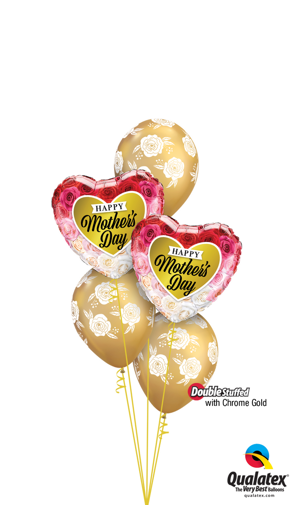 Chrome™ Gold Mother's Day Flowers Balloon Bouquet