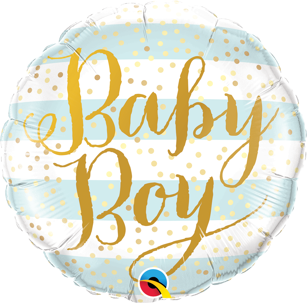 Baby Boy Blue Stripes Foil Balloon | Helium Is Included |.