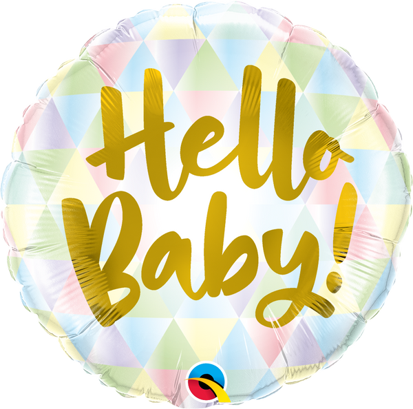 Hello Baby Foil Balloon | Helium Is Included |.