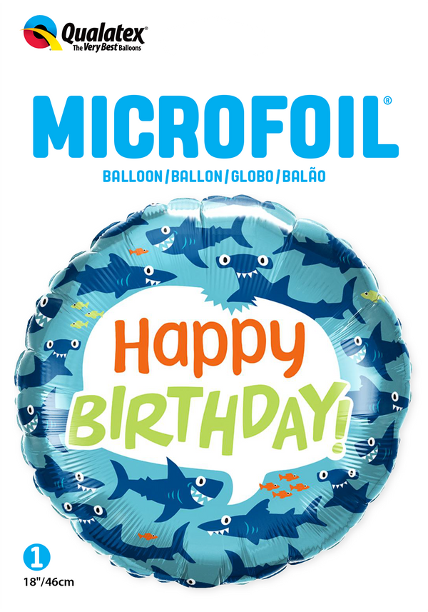 Birthday Fun Sharks Foil Balloon | Helium Is Included |.