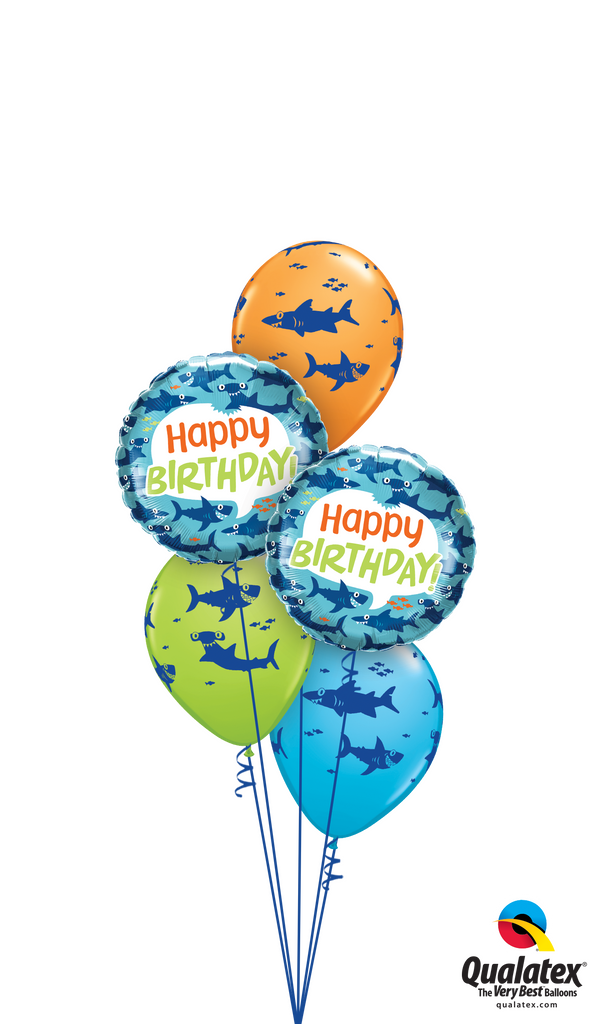Wishing You a Fin-tastic Birthday Balloons Bouquet