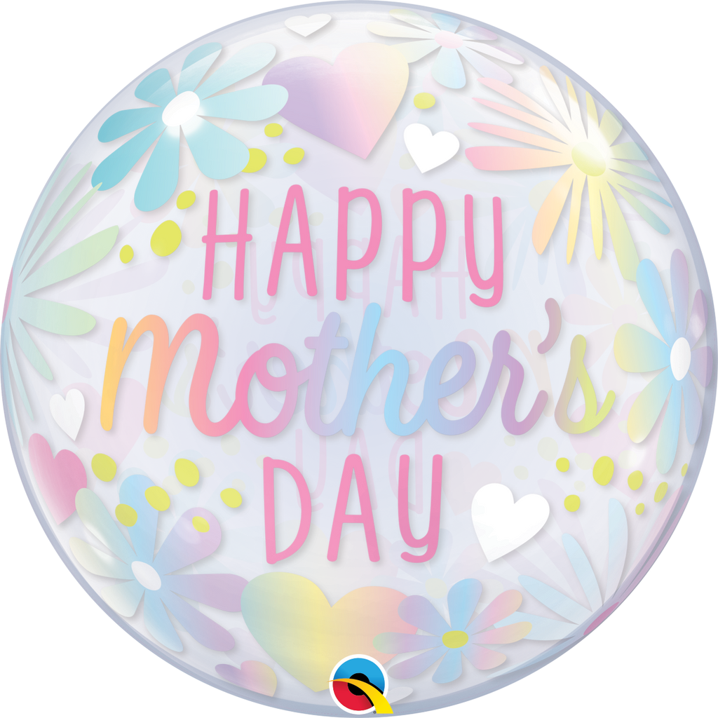 Mother's Day Floral Pastel Bubble Balloon