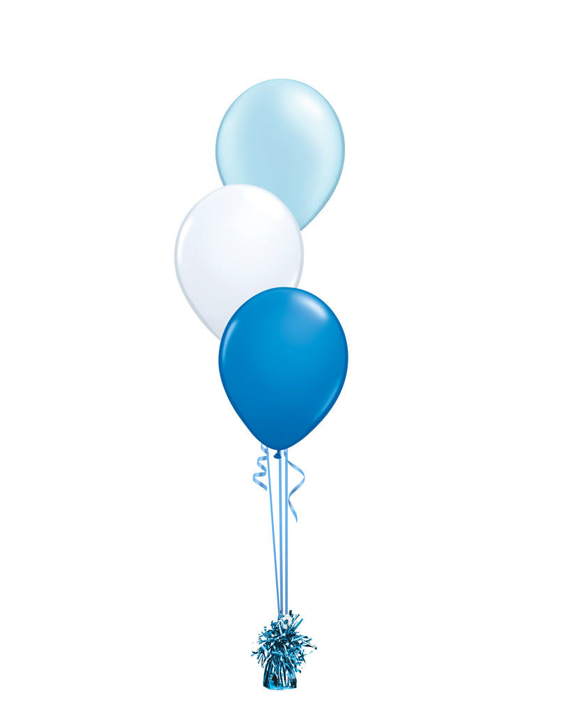 Blue Shade - Latex Balloon Bouquet - 3 Balloons