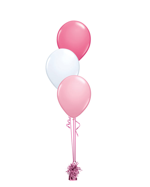 Pink Shade - Latex Balloon Bouquet - 3 Balloons