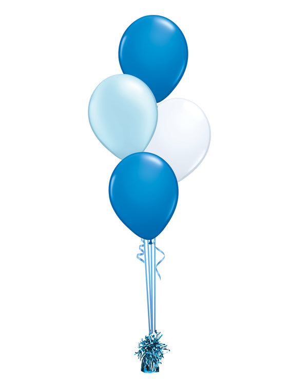 Blue Shade - Latex Balloon Bouquet - 4 Balloons