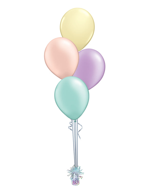 Pastel Shade - Latex Balloon Bouquet - 4 Balloons