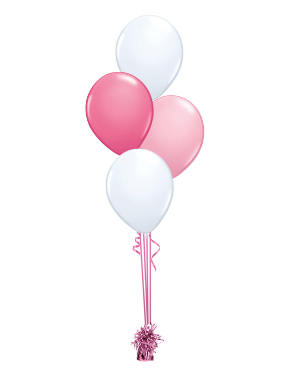 Pink Shade - Latex Balloon Bouquet - 4 Balloons
