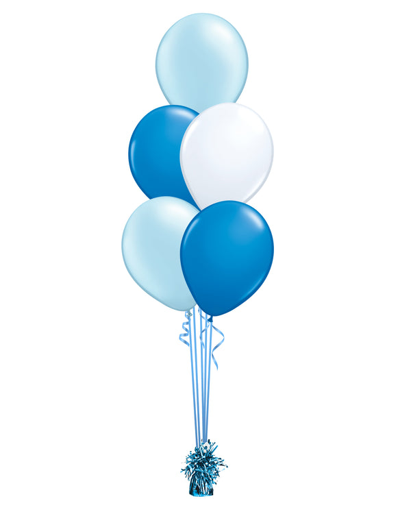 Blue Shade - Latex Balloon Bouquet - 5 Balloons