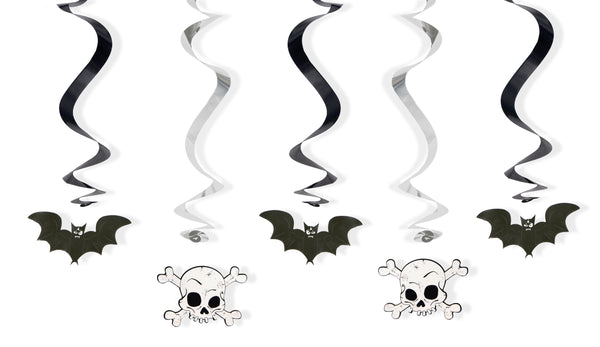 Swirls Bats and skulls, mix, 60cm