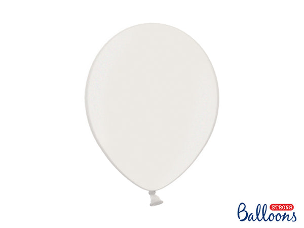 Metallic Pure White Latex Balloons (30cm) - Pack Of 10
