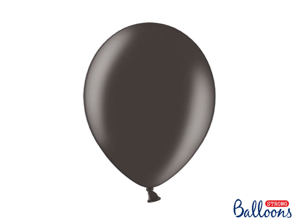 Metallic Black Latex Balloons (30cm) - Pack Of 10