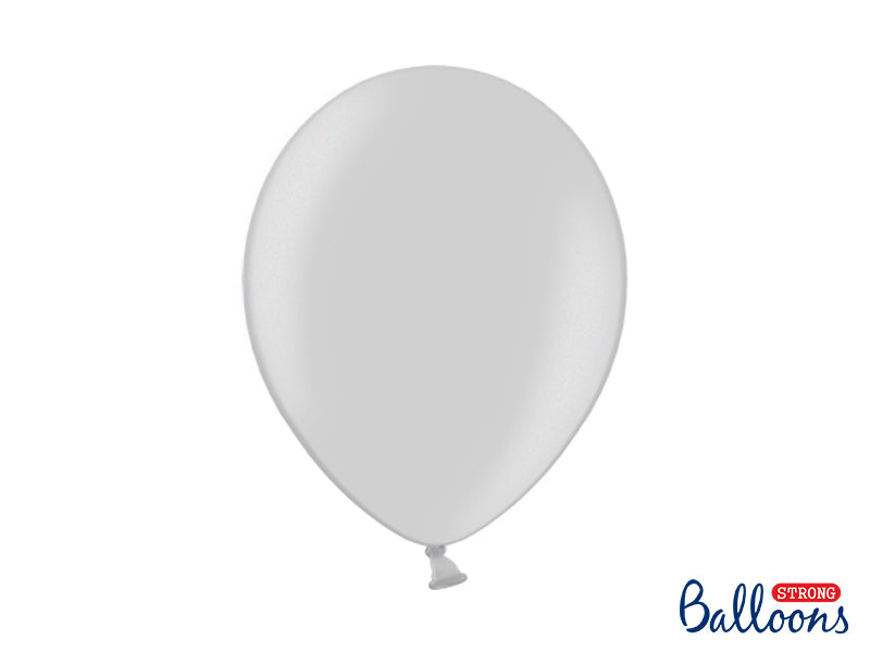 Metallic Silver Snow Latex Balloons (30cm) - Pack Of 1 (Single Balloon)