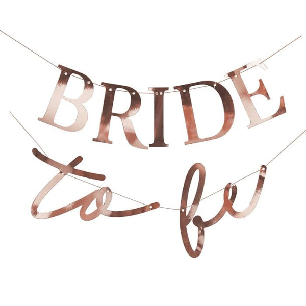 ROSE GOLD BRIDE TO BE HEN PARTY BANNER