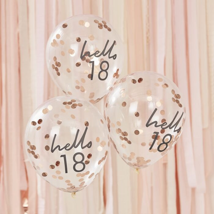 HELLO 18 BIRTHDAY BALLOONS