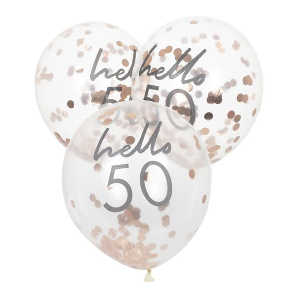HELLO 50 BIRTHDAY BALLOONS
