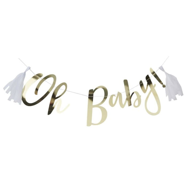 GOLD OH BABY! BABY SHOWER BUNTING