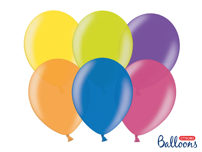 Metallic Mix Latex Balloons (30cm) - Pack Of 50