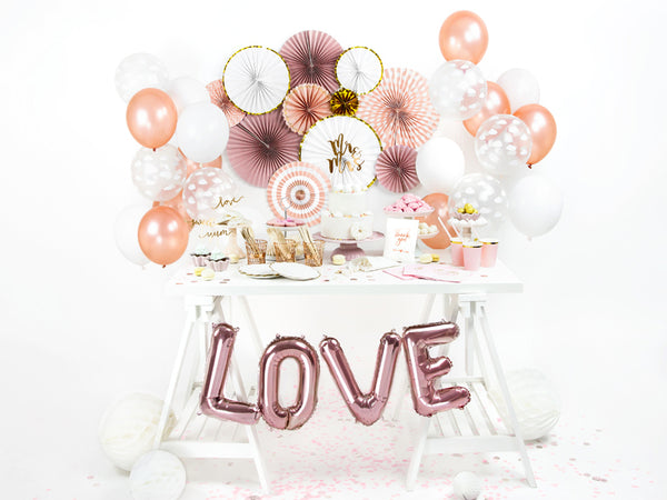 Metallic Rose Gold Latex Balloons (30cm) - Pack Of 1 (Single Balloon)