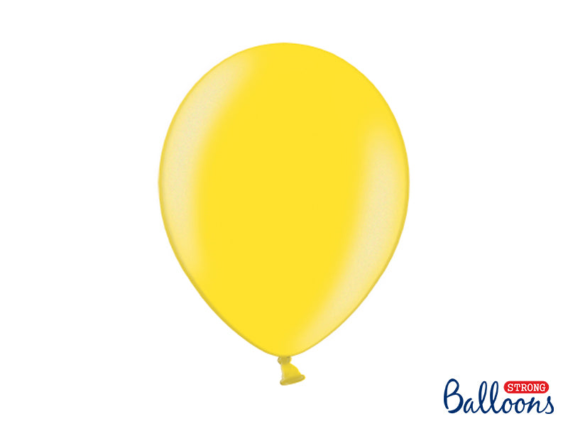 Metallic Lemon Zest Latex Balloons (30cm) - Pack Of 100
